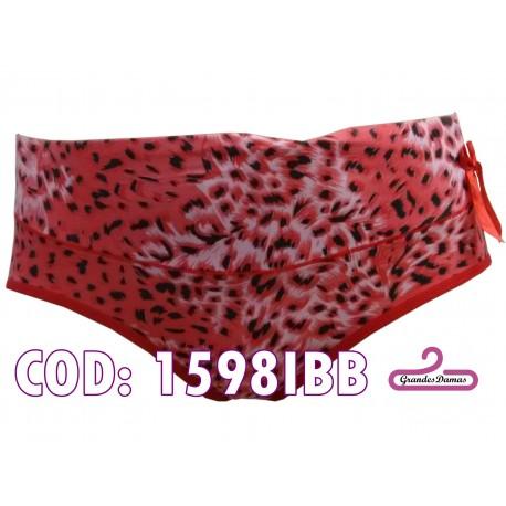 Bikini alto. Estampado print en tonos rojo