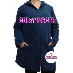 Tapado polar azul claro con capucha