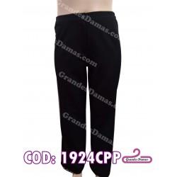 Pantalón bengalina elastizado. COLOR NEGRO
