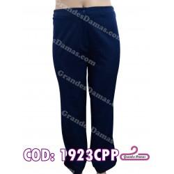 Pantalón bengalina elastizado. COLOR AZUL MARINO