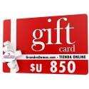Gift Card $U 850