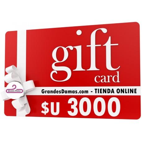 Gift Card $U 3000