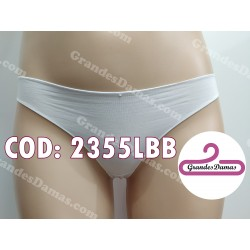 Tanga cotton y spandex. COLOR BLANCA