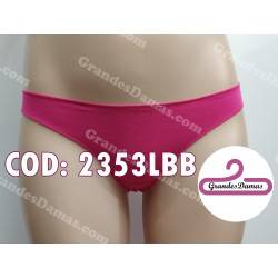 Tanga cotton y spandex. COLOR FUCSIA