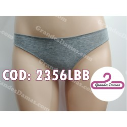 Tanga cotton y spandex. Color Gris