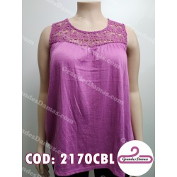 Musculosa con crochet. COLOR LILA
