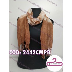 Pashmina esfumada. COLOR CHOCOLATE Y BEIGE