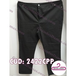 Pantalón gabardina elastizado. COLOR NEGRO T.66