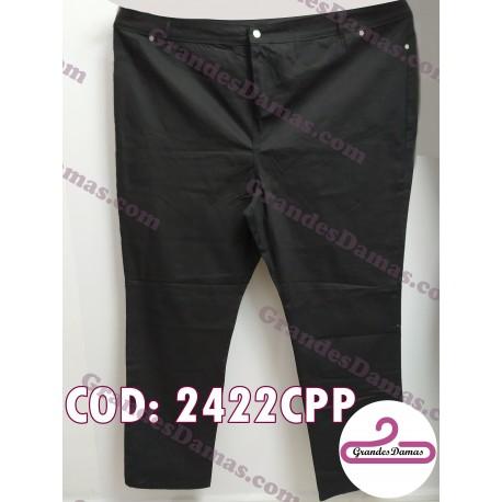 Pantalón gabardina elastizado. COLOR NEGRO T.66