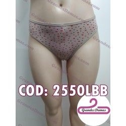 Tanga estampada. COLOR BEIGE