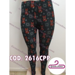 Calza lycra cotton estampada