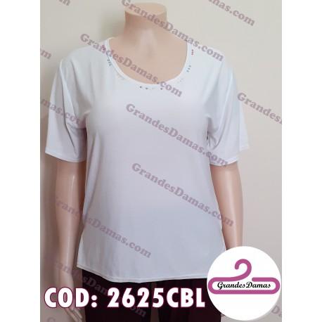 Blusa blanca acetato. COLOR BLANCO
