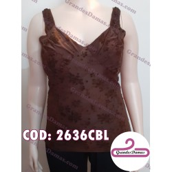 Musculosa labrada. COLOR CHOCOLATE