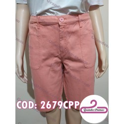 Bermuda jean. COLOR ROSA con sutiles brillos