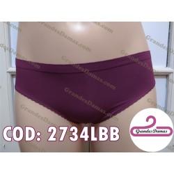 Bikini microfibra, encaje espalda. COLOR UVA