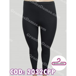 Calza en lycra cotton. COLOR NEGRO con tul lateral
