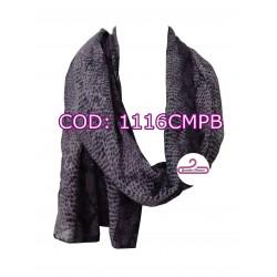 Pashmina print violeta y negro